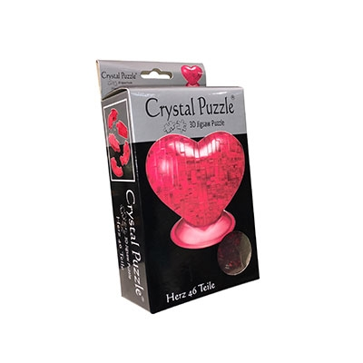 3D Crystal puzzle: Red Heart
