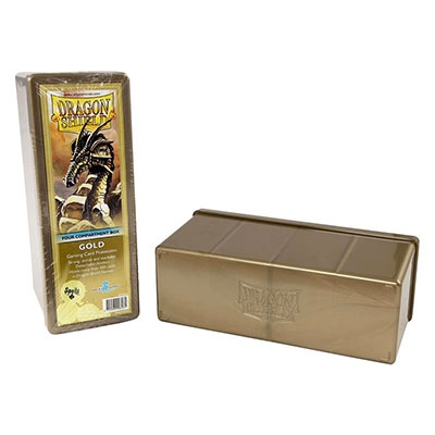 Dragon Shield - 4 Storage box: Gold