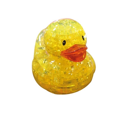 3D Crystal puzzle: Rubber Duck