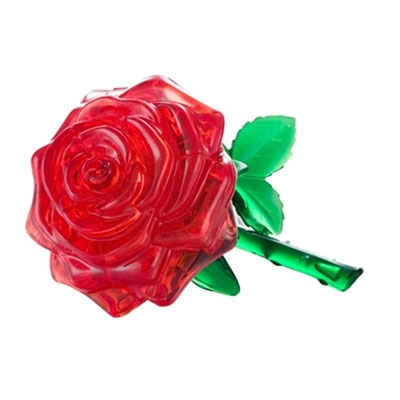 3D Crystal puzzle: Red Rose