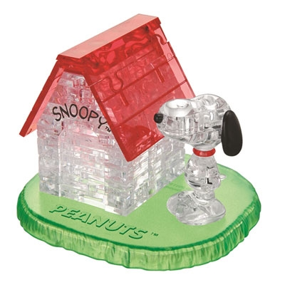 3D Crystal puzzle: Snoopy house